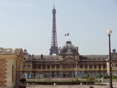 Ecole Militaire and the Eiffel Tower