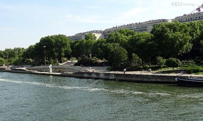Jardin Tino Rossi from the River Seine