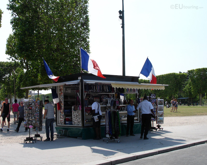 Souvenir shop at Champ de Mars