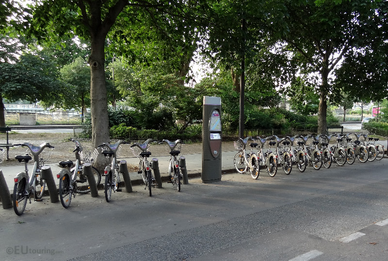 Velib bike station