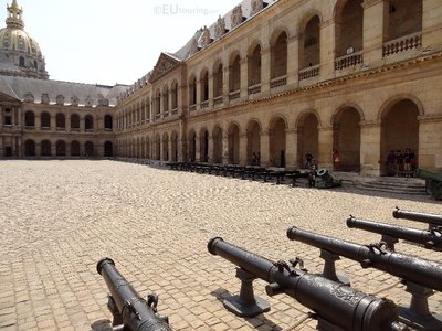 Various cannons within the courtyard