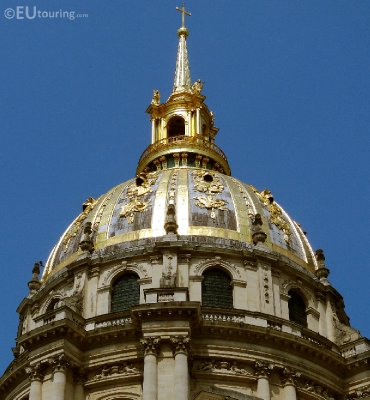 Famous golden dome on the Les Invalides