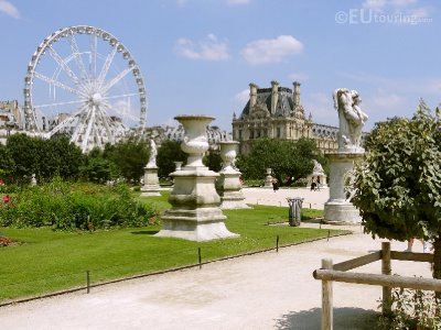 Tuileries Gardens next to the Louvre