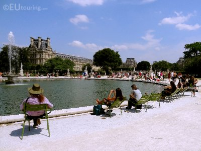 Tuileries Gardens to the Louvre