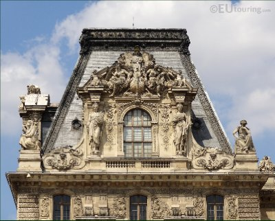 Sculptures on the Louvre's roof