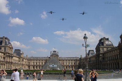 Fly over at the Louvre