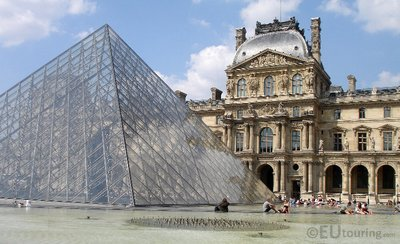 Louvre Pyramid and facade