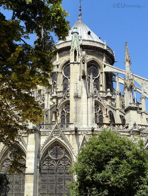 Eastern side and details of the Notre Dame