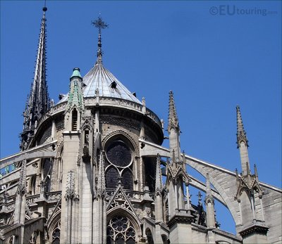 Close up of the Notre Dame