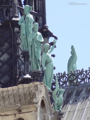 Copper Statues on the Notre Dame de Paris