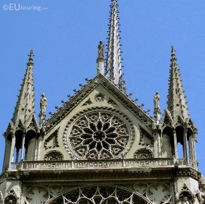 Above the Rose Window on the Notre Dame de Paris