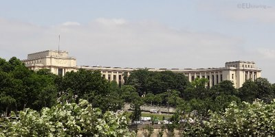 Palais de Chaillot behind trees