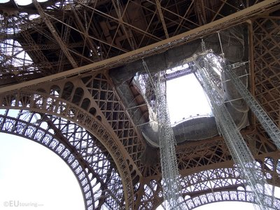 Iron work at the Eiffel Tower