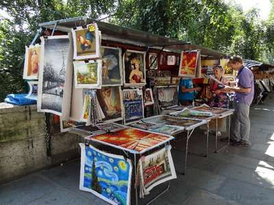 Stall near the Seine