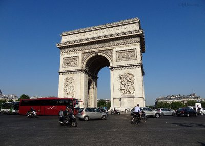 The Arc de Triomphe and traffic
