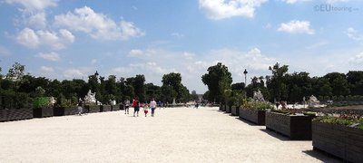 View down the Tuilleries Gardens