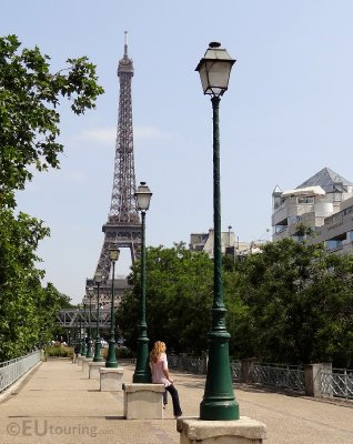 Eiffel Tower from the Place Des Martyrs Juifs