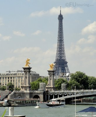 Pont Alexandre and distant Eiffel