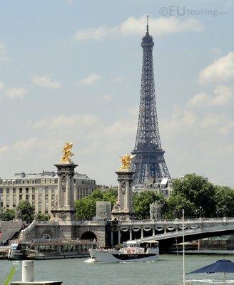 Pont Alexandre and distant Eiffel