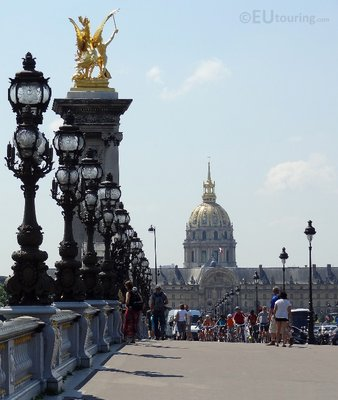 View down the Pont Alexandre III