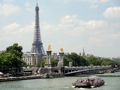 Eiffel Tower view and the Pont Alexandre