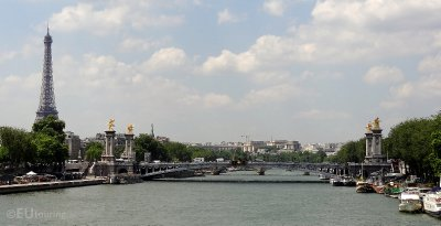 Pont Alexandre III and the Eiffel Tower