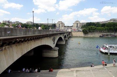 Side of the Pont d'Iena bridge