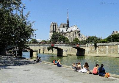 Pont de l'Archeveche and Notre Dame