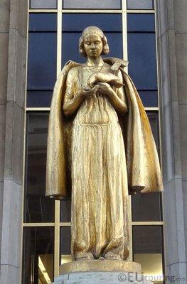 Les Oiseaux statue