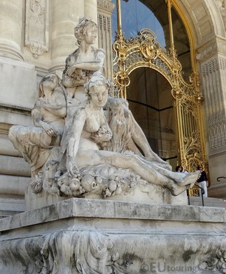 Statue beside Petit Palais entrance