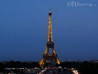 Lights and beacon of the Eiffel Tower
