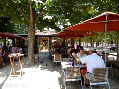 Cafe within the Tuileries Gardens
