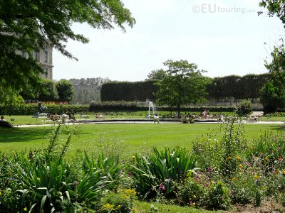 A view over a garden at Tuileries Garden