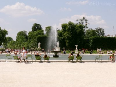 Water basin at the Tuileries