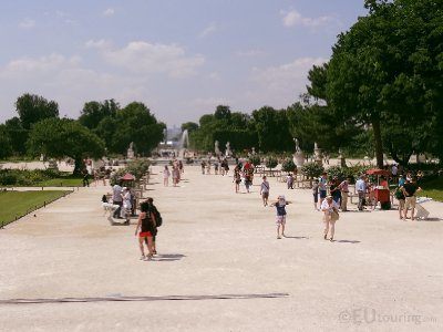 Downwards look of the Tuileries