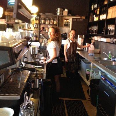 Angelic baristas at the Jam Jar