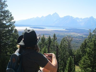View of Tetons from Grand View Point