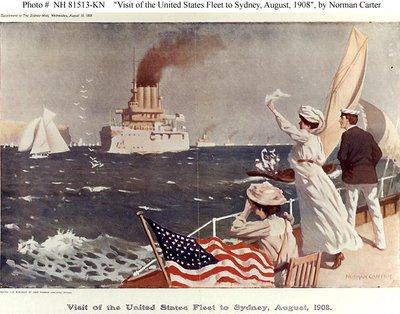 Visit of the United States Fleet to Sydney, August, 1908 by Norman Carter