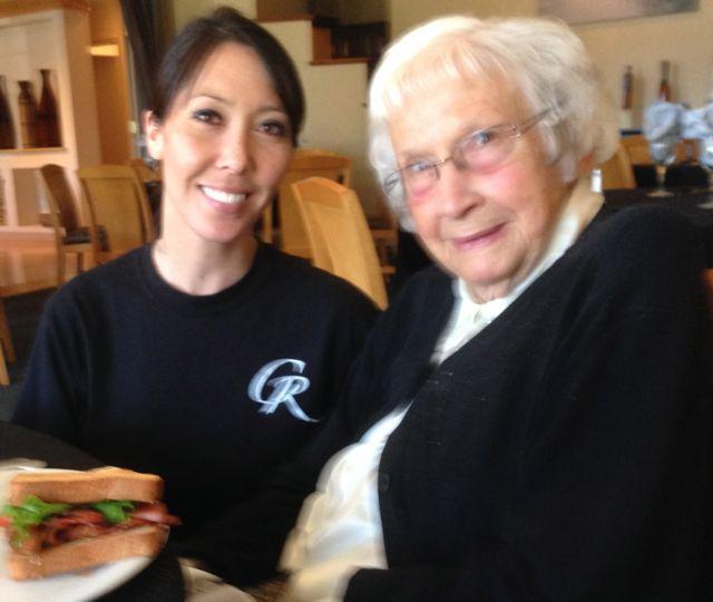 Shandi Fujimoto and Lorene Clark at the Copper Rill Restaurant
