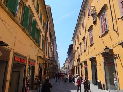 Pisa old city streetscape