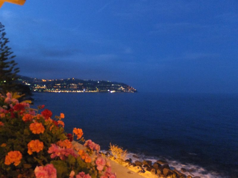 Night lights on the Azure coast