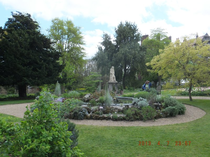 Physic Garden Chelsea, the worlds first rockery, built by Joseph Banks using ballast from one of James Cooks ships to grow dry climate medicinal plants