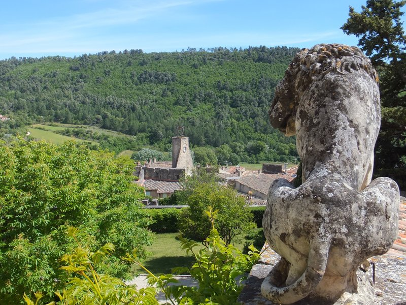 View from the chateaux Ansouis