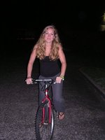 On a bike a last