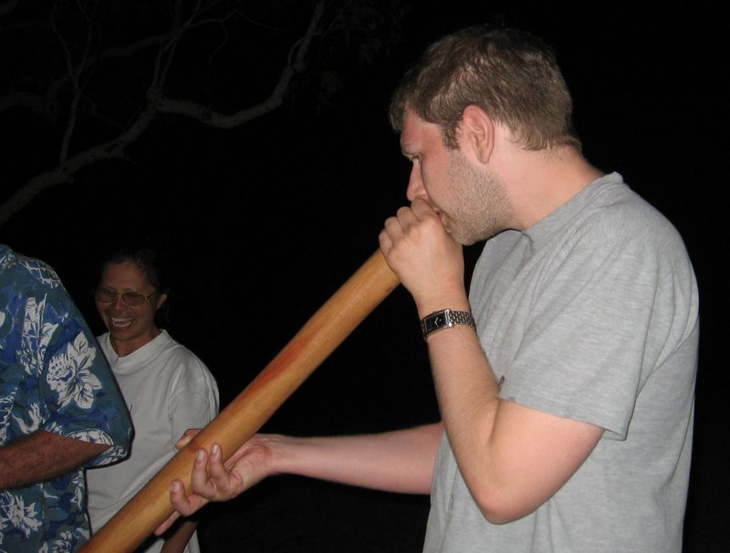 Didgeridoo Playing - that's not Rolf, it's me ...