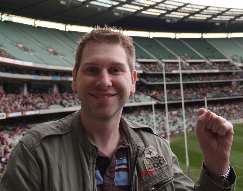 Melbourne - That's me ... at a sporting event !