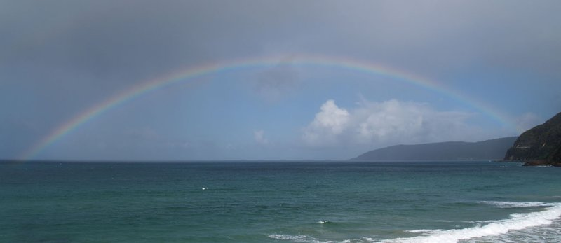 Ocean Road - a rainbow appeared after a rainy spell
