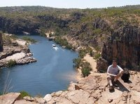 Katherine Gorge - me at the top, in a puddle of sweat