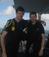 Diving - me and buddy Jonny after our final certification dive