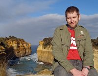 Ocean Road - me at Loch Ard gorge